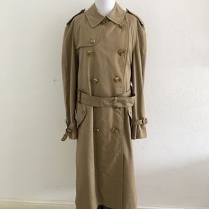 Burberry Mens Tan Trench Coat Size 40
